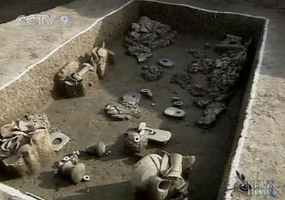 ChineseAcademyofSocialScienceshasannouncedthecountry'stopsixarchaeologicaldiscoveriesof2009.(CCTV.com)