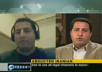 "An image grab taken from Iran's state-run English-language Press TV shows Iranian nuclear scientist Shahram Amiri whom the Islamic republic says was kidnapped by US agents in two different video clips screened on Iranian television channels on June 8. An Iranian nuclear scientist has been in the United States by choice ""for some time"" and is ""free to go,"" the US State Department said Tuesday.(AFP/ PRESS TV/File)"