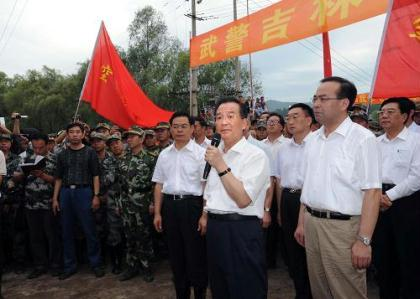 Premier Wen Jiabao has visited Northeast China's Jilin Province, overseeing flood prevention and control efforts. The Premier toured the hardest-hit areas, and inspected emergency shelters.