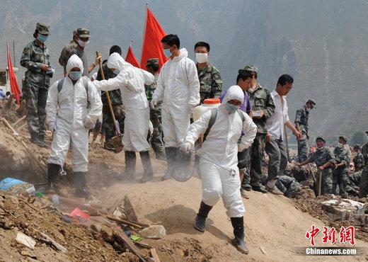 Disease prevention work has started in areas of northwest China's Gansu Province that were hit by devastating floods on August 12th. Health workers are now scrambling to ensure high levels of sanitation in Chengxian County.