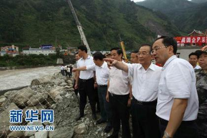 Premier Wen Jiabao has been visiting the mudslide hit counties in Sichuan province. He's also been to Zhouqu in Gansu Province where a serious mudslide also hit.