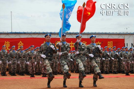 1340248325166 1340248325166 r Chinese peacekeepers in Sudan awarded Peace Medal of Honor