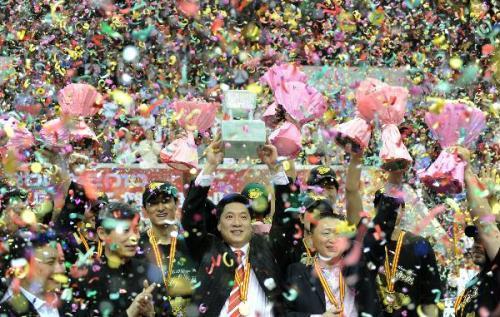 GuangdongHongyuanwonSundaythesixthtitleinsevenseasonsafterbeatingXinjiangGuanghui103-94inthefinalsoftheChineseBasketballAssociationleague(CBA)here.