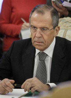 RussianForeignMinisterSergeyLavrovlistensduringtalkswithNATOchiefAndersFoghRasmussen,notpictured,inMoscow,Russia,Wednesday,Dec.16,2009.(APPhoto/MikhailMetzel)