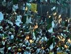 阿尔及利亚球迷为球队加油