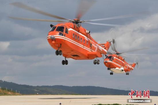 应急部森林消防局直升机支队现装备国产大型直升机18架