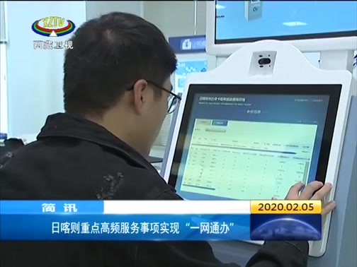 """[西藏新闻联播]日喀则重点高频服务事项实现""""一网通办"""""""