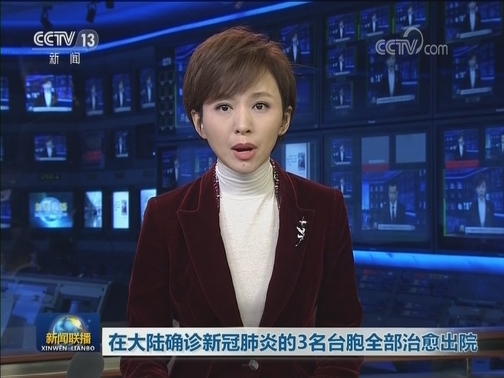 [视频]在大陆确诊新冠肺炎的3名台胞全部治愈出院