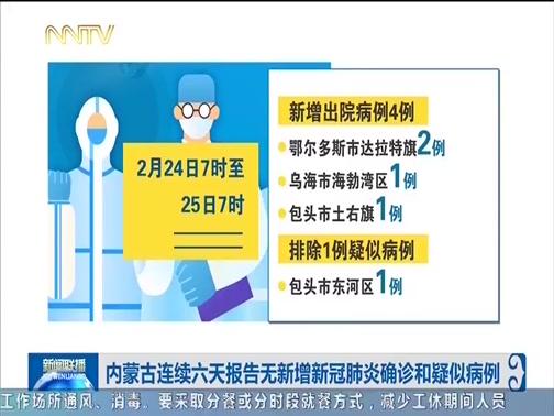 [内蒙古新闻联播]内蒙古连续六天报告无新增新冠肺炎确诊和疑似病例