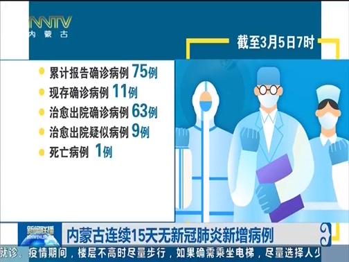 [内蒙古新闻联播]内蒙古连续15天无新冠肺炎新增病例
