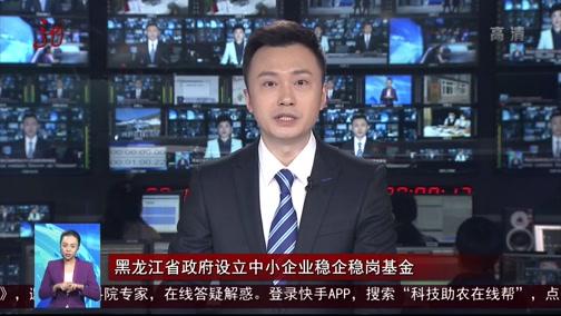 [全省新闻联播]黑龙江省政府设立中小企业稳企稳岗基金