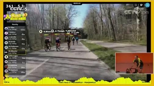 [自行车]线上环瑞士自行车赛结束第二赛段