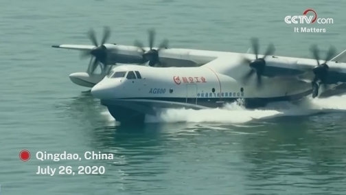 China's AG600 amphibious aircraft completes maiden sea flight