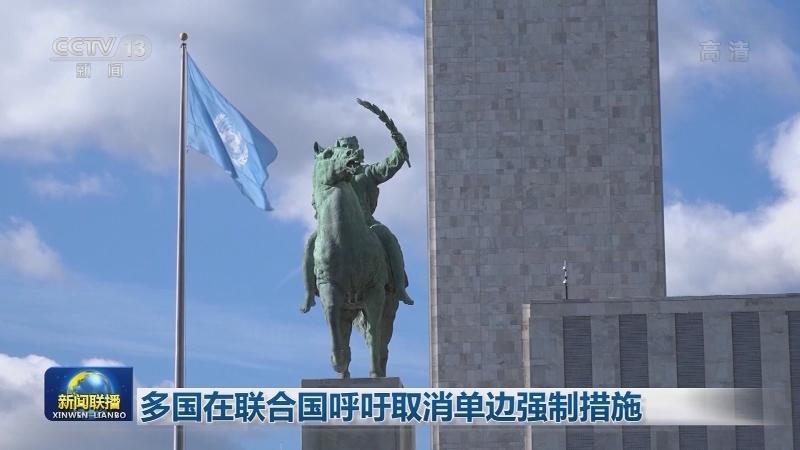多国在联合国呼吁取消单边强制措施