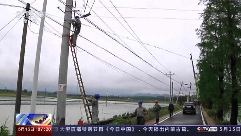 [朝闻天下]湖北武汉 蔡甸17条供电线路受损 2万多户居民停电央视网2021年05月16日07:29