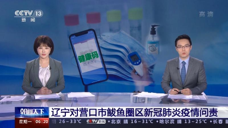 [朝闻天下]辽宁对营口市鲅鱼圈区新冠肺炎疫情问责央视网2021年05月17日06:57