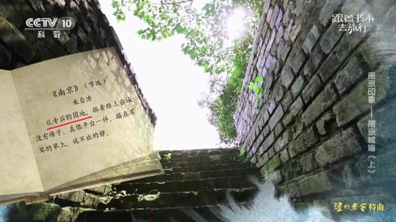 《跟着书本去旅行》 20210526 南京印象——南京城墙(上)