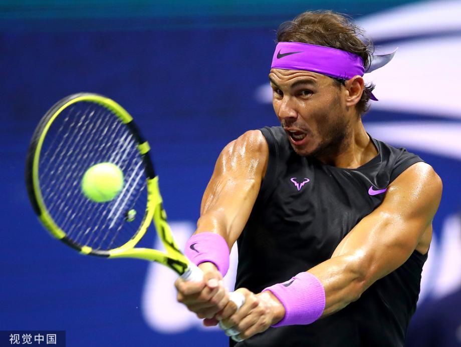 [圖]納達爾丟一盤勝西里奇 第9次躋身美網八強