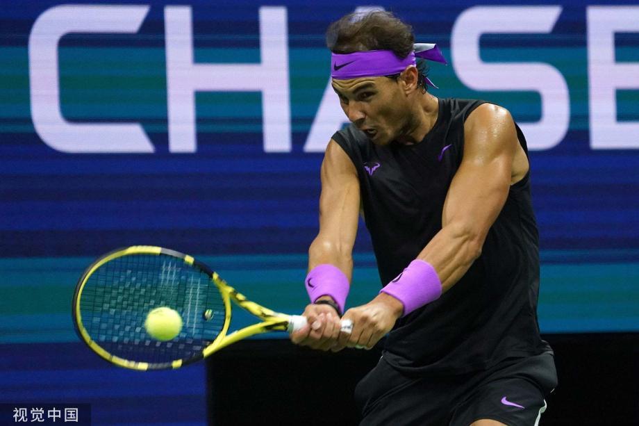 [图]纳达尔3-0贝雷蒂尼 5进美网决赛和俄新星争冠