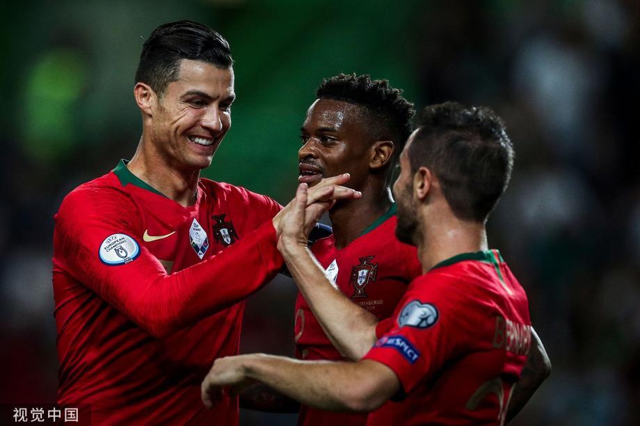 [图]欧预赛-C罗领衔3人进球 葡萄牙3-0卢森堡3连胜