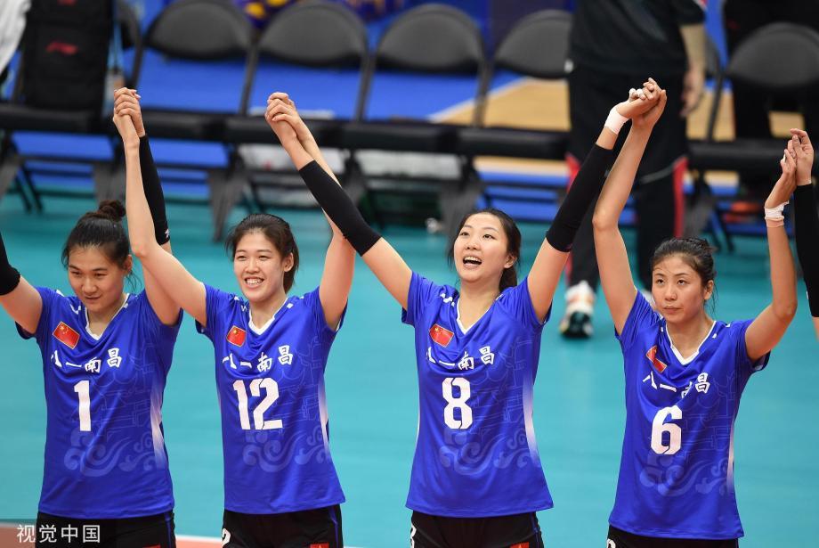 [图]军运会女排:中国胜加拿大 全胜晋级半决赛