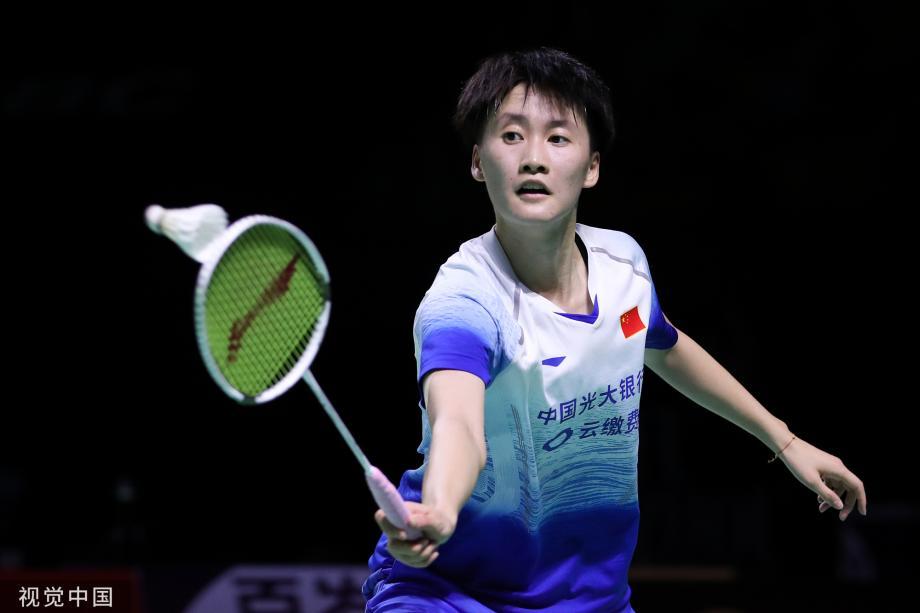 [图]中国羽毛球公开赛 陈雨菲险胜晋级女单决赛