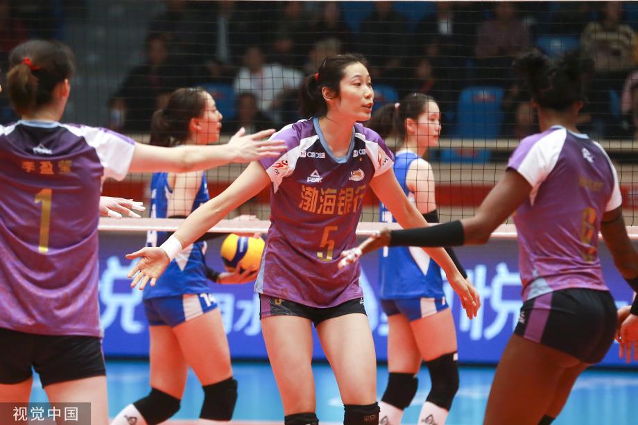 [图]天津女排3-0广东女排 获排超联赛两连胜