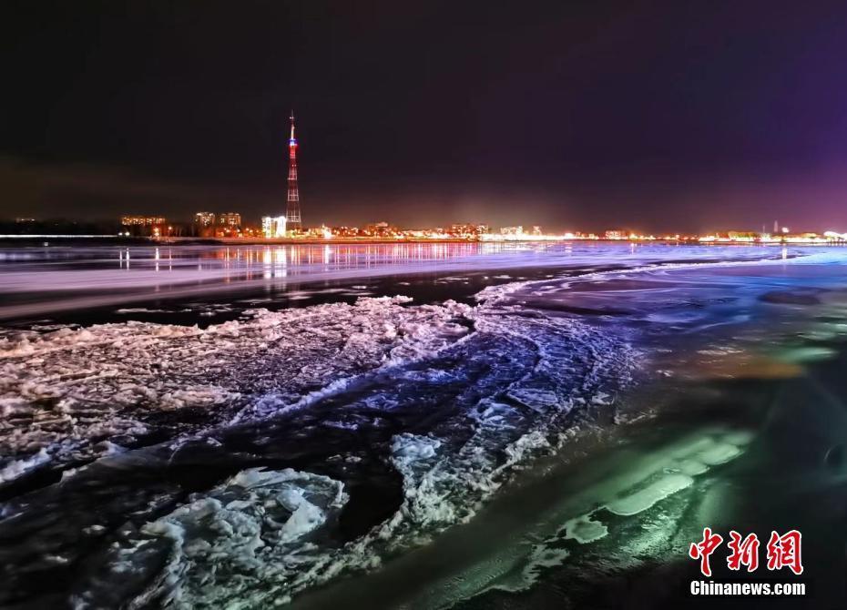 黑龙江夜景:灯光璀璨