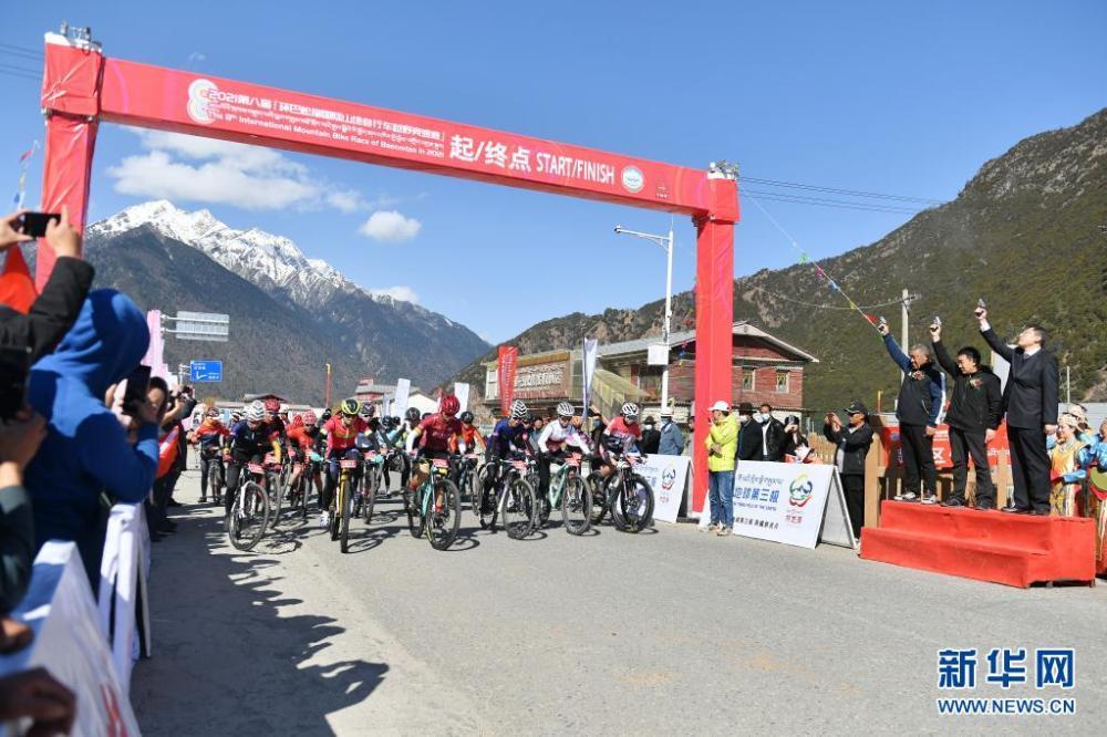 中国海拔最高环湖自行车赛在西藏巴松措开赛插图(4)