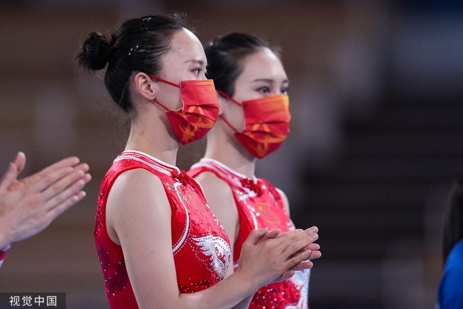 [圖]第17金!女子蹦床中國包攬金銀牌 朱雪瑩奪冠