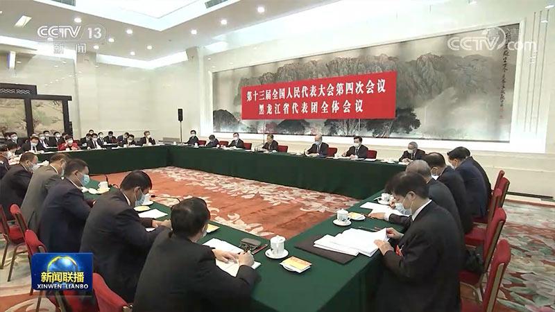 赵乐际参加黑龙江代表团审议