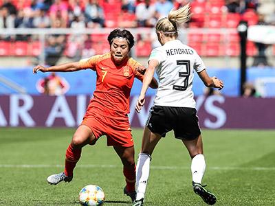 [女足世界杯]小组赛B组:德国VS中国 上半场