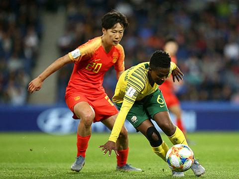 [女足世界杯]小组赛B组:南非VS中国 下半场