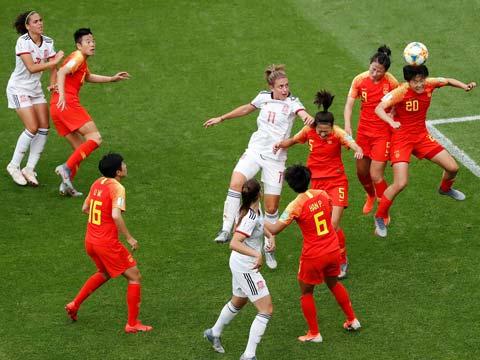 [女足世界杯]小组赛B组:中国VS西班牙 下半场