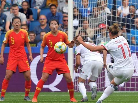 [女足世界杯]小组赛B组:中国0-0西班牙 比赛集锦