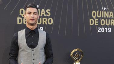 [图]葡萄牙足球颁奖典礼举行 C罗当选年度最佳球员
