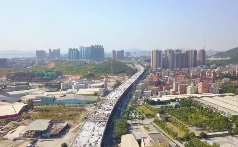 同集路海翔大道至福泽路段跨线桥工程今天合龙 00:00:46