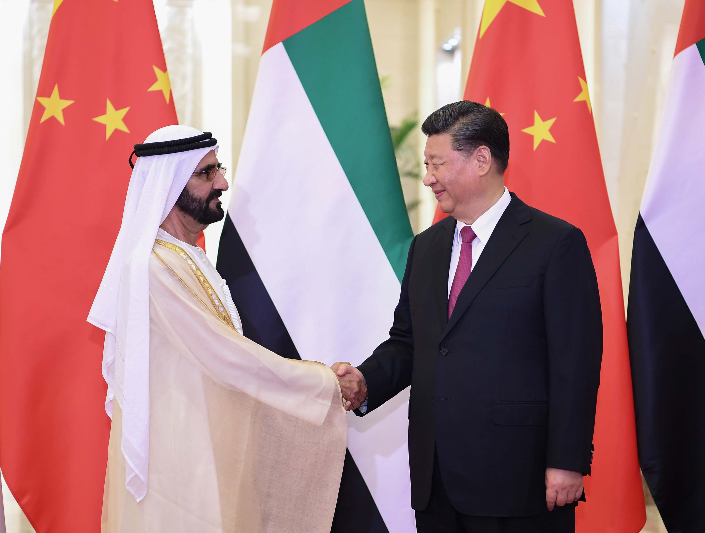 4月25日,国家主席习近平在北京人民大会堂会见阿联酋副总统兼总理、迪拜酋长穆罕默德。