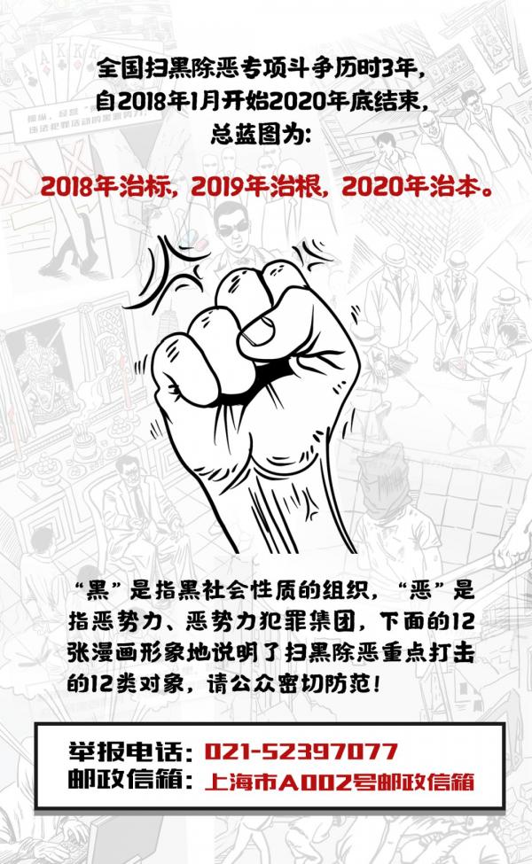 12類掃黑除惡對象漫畫版發布,發現就舉報!