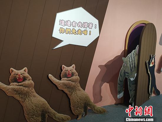 """""""蛋蛋特展——奇谭俱乐部的扭蛋世界""""日前在台北举办,""""喵星人""""家族集体出动,""""萌""""进大家视野。 中新社记者 欧阳开宇 摄"""