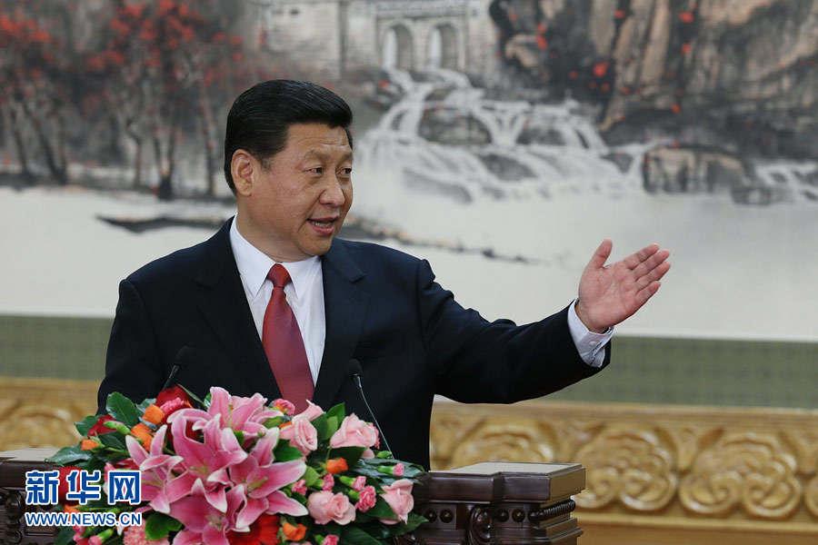 2012年11月15日,中共中央总书记习近平发表讲话。(新华社)
