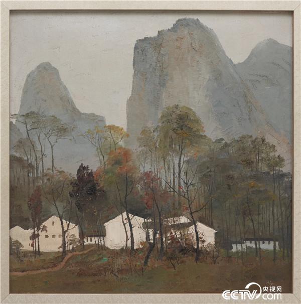 吴冠中 桂林山中 1972年 90X90cm 中国美术馆藏