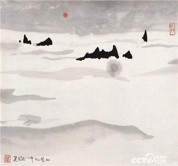 吴冠中 忆黄山 1989年 35×45厘米 国画