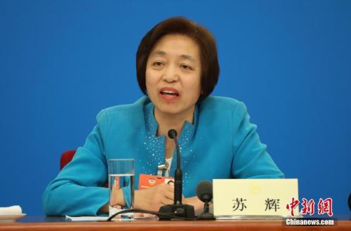 资料图:台盟中央主席苏辉。 中新社记者 泱波 摄