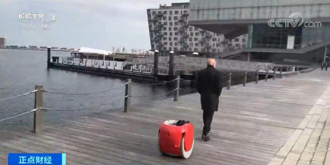 """享受""""买买买""""再也不怕拎购物袋  跟随主人行走的货运机器人面市"""