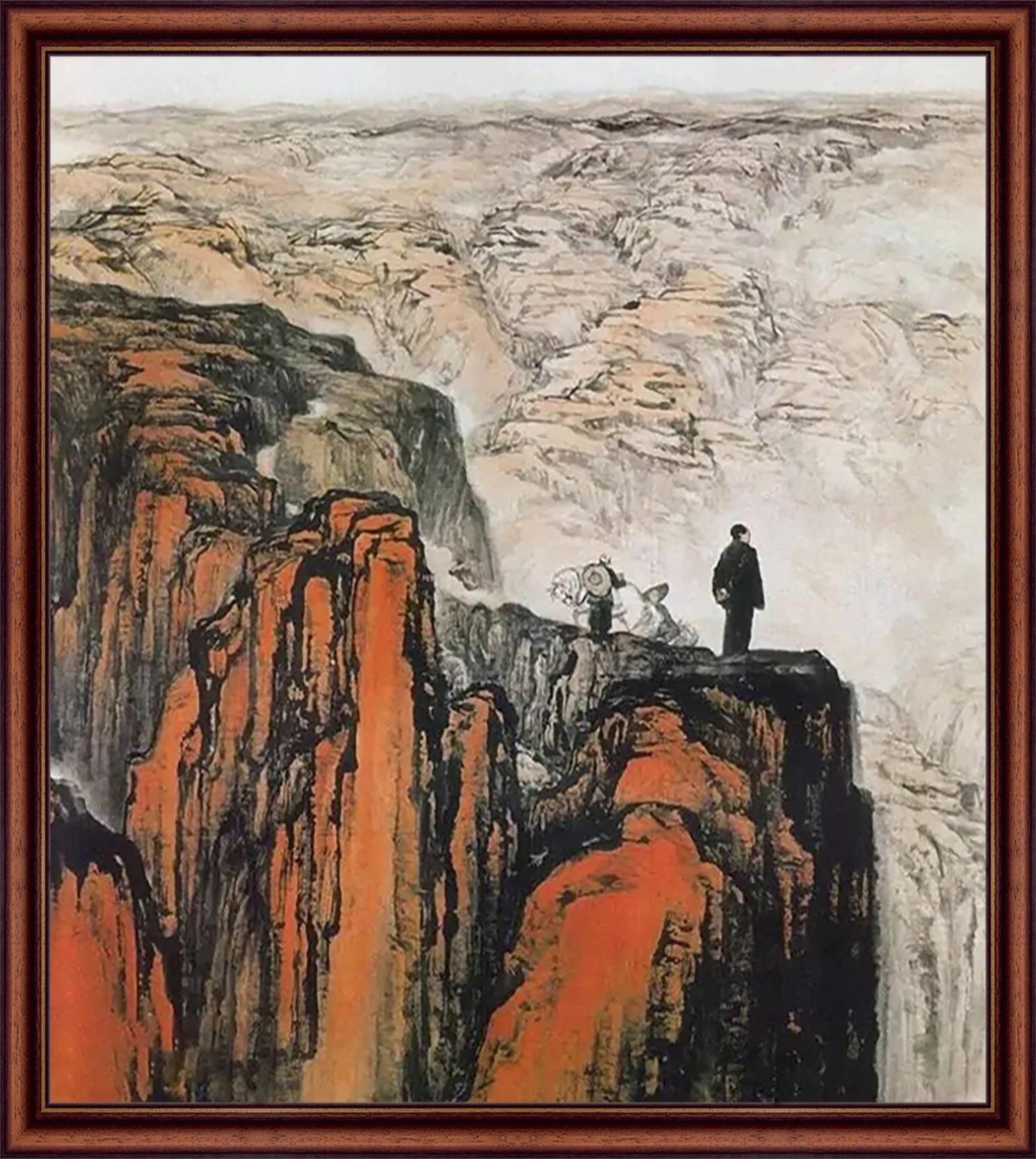 石鲁 《转战陕北》 国画  1959年