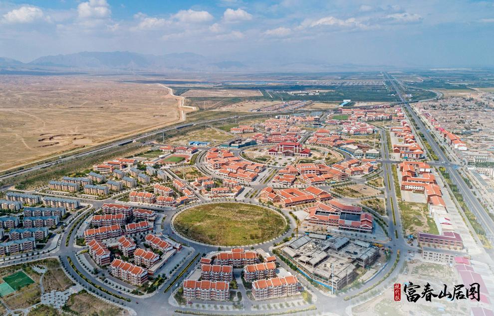 这是2019年9月3日拍摄的宁夏回族自治区银川市永宁县闽宁镇新区新貌。